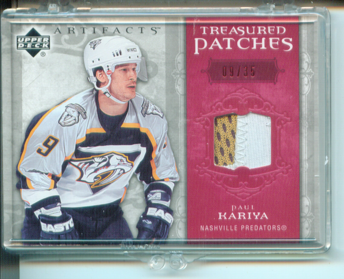 2006-07 Artifacts Treasured Patches Red #TSPK Paul Kariya