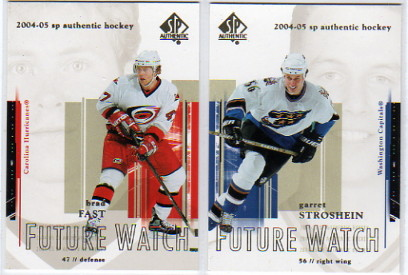 2004-05 SP Authentic #95 Garret Stroshein RC