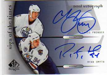 2005-06 SP Authentic Sign of the Times Duals #DPS Chris Pronger/Ryan Smyth