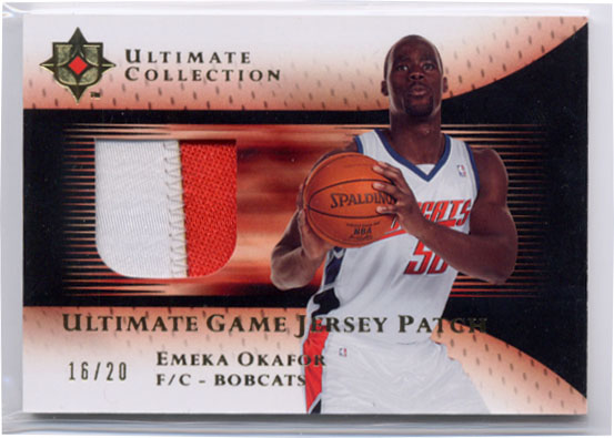 2005-06 Ultimate Collection Patches Gold #UJPEO Emeka Okafor