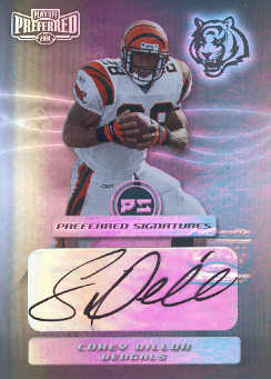 2001 Playoff Preferred Signatures Silver #16 Corey Dillon