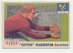 1955 Topps All American #81 Cotton Warburton RC