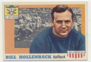 1955 Topps All American #96 Bill Hollenback SP