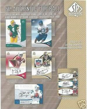 2006 Upper Deck SP Authentic Football Factory Sealed Hobby Box (2 Autographs & 2 #ed Rookies Per Box)