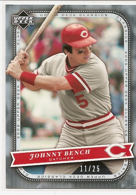 2005 Upper Deck Classics Platinum #56 Johnny Bench