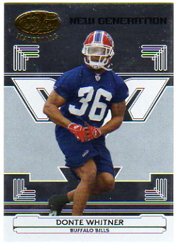 2006 Leaf Certified Materials #161 Donte Whitner/1000 RC