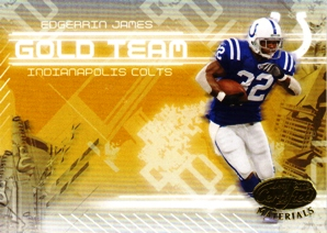 2005 Leaf Certified Materials Gold Team #14 Edgerrin James