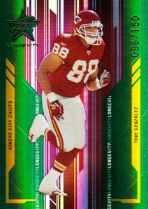 2005 Leaf Rookies and Stars Longevity Emerald #49 Tony Gonzalez