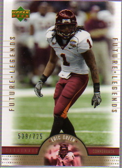 2005 Upper Deck Legends #164 Eric Green RC