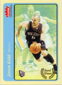 2004-05 Fleer Tradition Blue #211 Jason Kidd AW