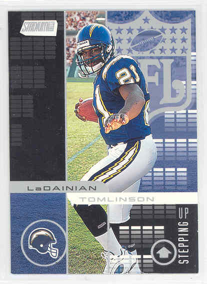 2001 Topps Stadium Club Stepping Up # SU2 LaDainian Tomlinson Chargers Rookie
