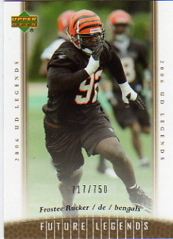 2006 Upper Deck Legends #113 Frostee Rucker RC