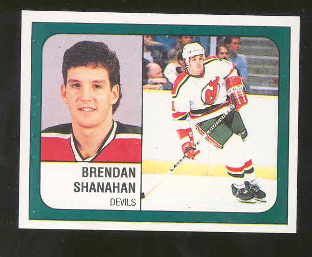 1988 89 Panini Sticker #276 Brendan Shanahan RARE Rookie Card 