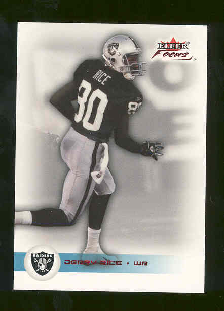 2003 Fleer Focus Numbers Century #96 Jerry Rice Raiders only 100 made