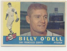 1960 Topps #303 Billy O'Dell