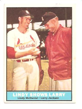 1961 Topps #75 Lindy Shows Larry/Lindy McDaniel/Larry Jackson