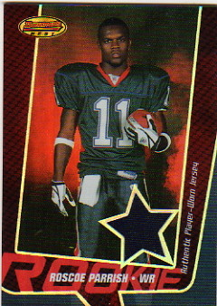 2005 Bowman's Best Red #119 Roscoe Parrish JSY