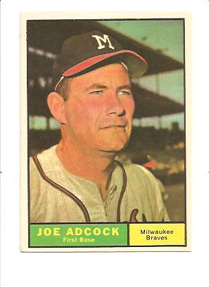 1961 Topps #245 Joe Adcock