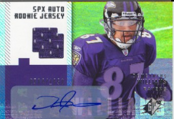 2006 SPx #209 Demetrius Williams JSY AU RC