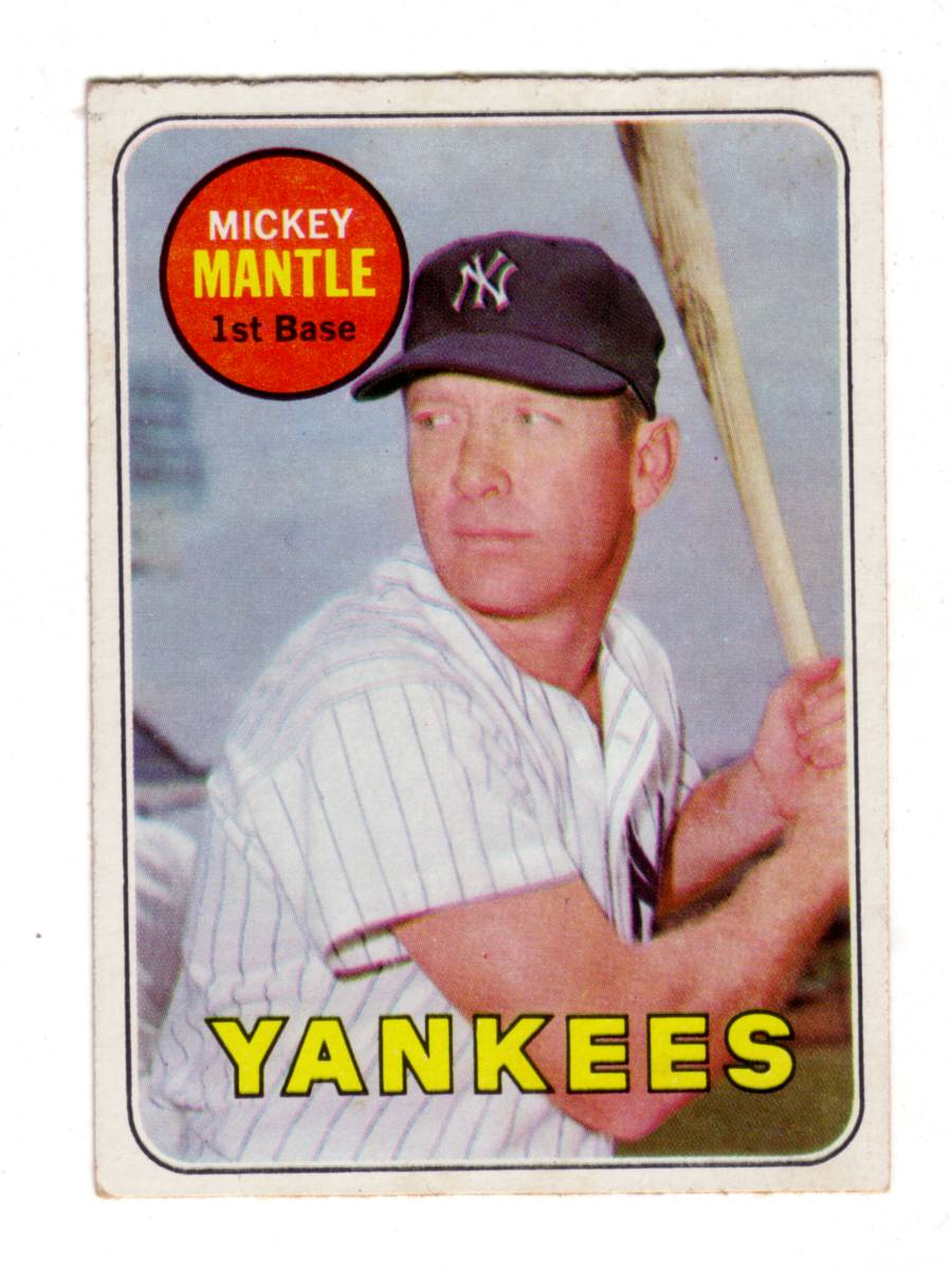 MICKEY MANTLE 1969 TOPPS #500A  ex-mt