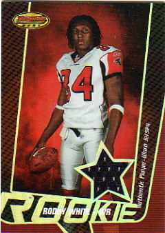 2005 Bowman's Best #125 Roddy White JSY RC