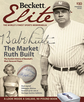 Beckett Elite Premiere Issue #1 ! Rare with Babe Ruth Yankees Cover Sold OUT !!!