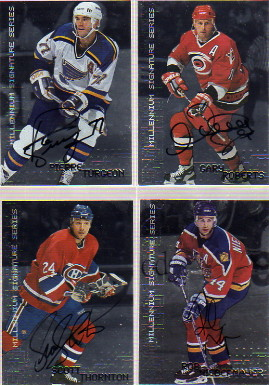1999-00 BAP Millennium Autographs #135 Scott Thornton