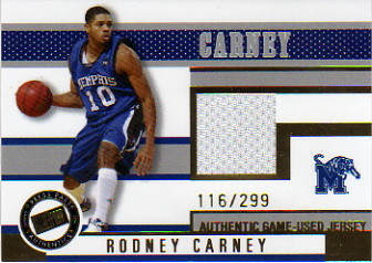 2006 Press Pass Jerseys Gold #JCRC Rodney Carney