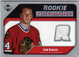 2005-06 Upper Deck Rookie Threads #RTCB Cam Barker
