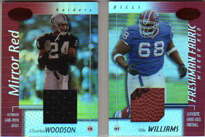 2002 Leaf Certified Mirror Red Materials #65 Charles Woodson