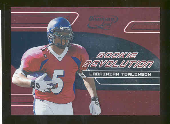 2001 Quantum Leaf Rookie Revolution only 4000 made LaDainian Tomlinson Chargers RC Rookie Card TouchDown Record