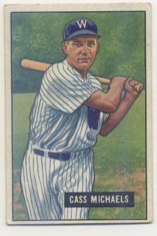 1951 Bowman #132 Cass Michaels