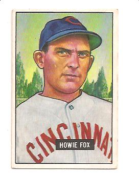 1951 Bowman #180 Howie Fox