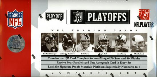2006 Playoff NFL Playoffs Football Sports Trading Cards Boxed Set (formerly Prime Signatures)