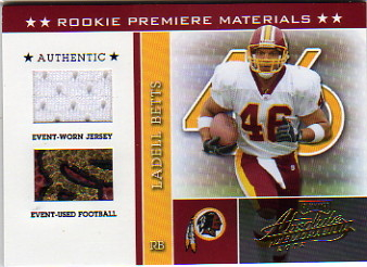 2002 Absolute Memorabilia #201 Ladell Betts RPM RC