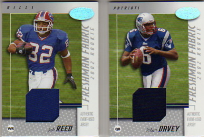 2002 Leaf Certified #124 Josh Reed JSY RC