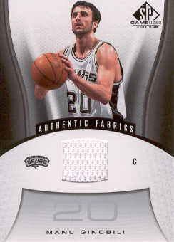 2006-07 SP Game Used #186 Manu Ginobili JSY
