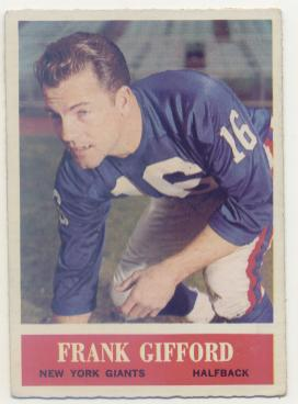 1964 Philadelphia #117 Frank Gifford