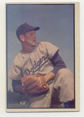 1953 Bowman Color #129 Russ Meyer