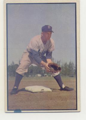 1953 Bowman Color #135 Bobby Morgan