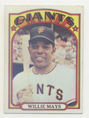 1972 Topps #49 Willie Mays front image