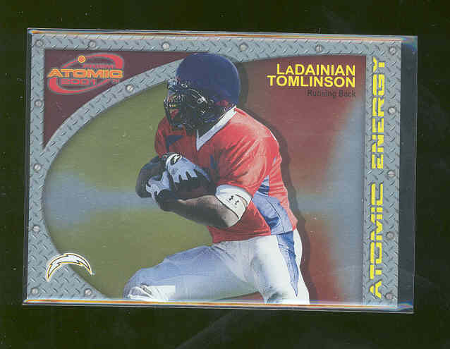 2001 Pacific Prism Atomic #17 LaDainian Tomlinson Chargers TouchDown Record Rookie Card Mint Condtion