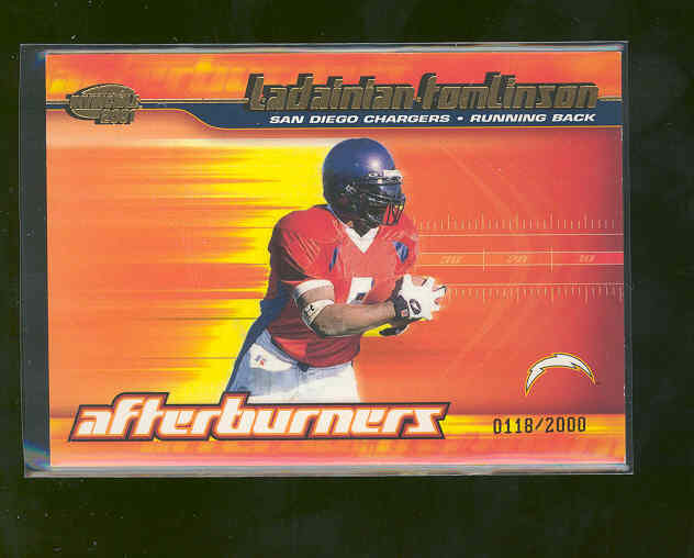 2001 Pacific Invincible # 19 LaDainian Tomlinson Chargers Rookie RC Only 2000 MADE RARE