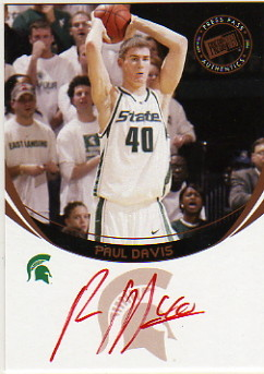 2006 Press Pass Autographs #45 Paul Davis