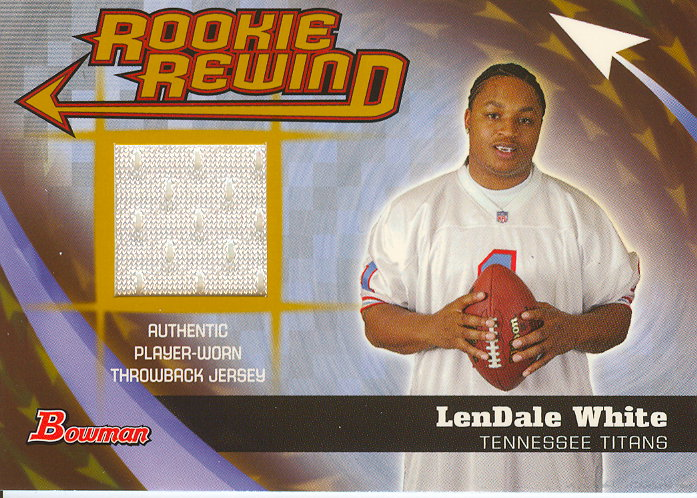 2006 Bowman Rookie Rewind Jerseys Gold #BRRLW LenDale White