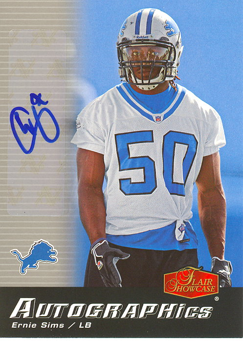 2006 Flair Showcase Autographics #AUES Ernie Sims