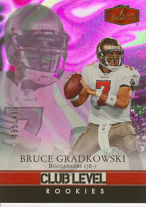 2006 Flair Showcase #183 Bruce Gradkowski RC