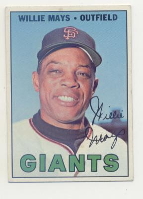 1967 Topps #200 Willie Mays UER ('63 Sna Francisco on Card Back) front image