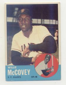 1963 Topps #490 Willie McCovey front image