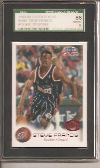 1999-00 Fleer Focus #109 Steve Francis RC